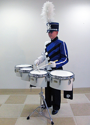 Pearl Marching Tenor / Quint Set mit Ständer